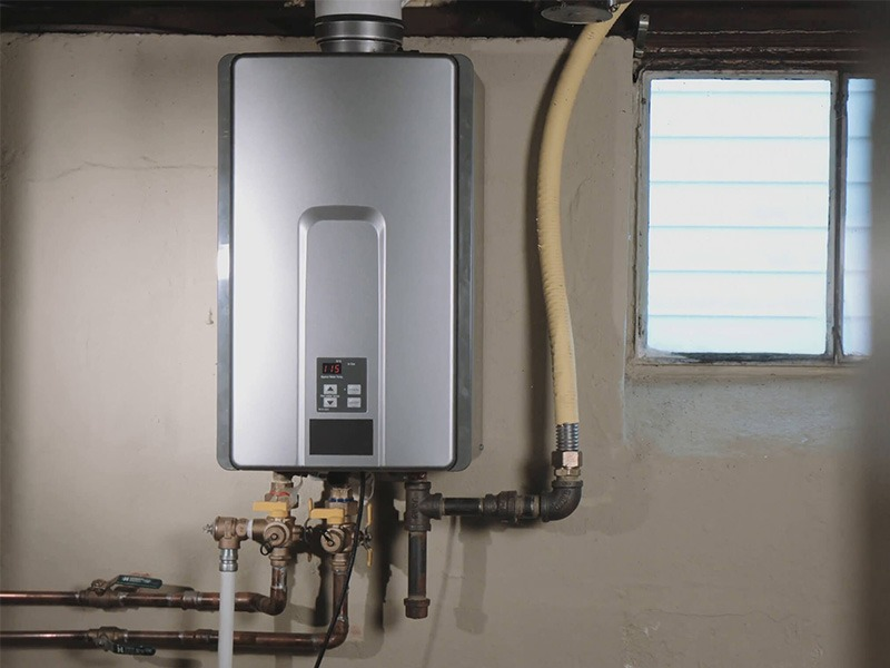 water heater plumbing pipes