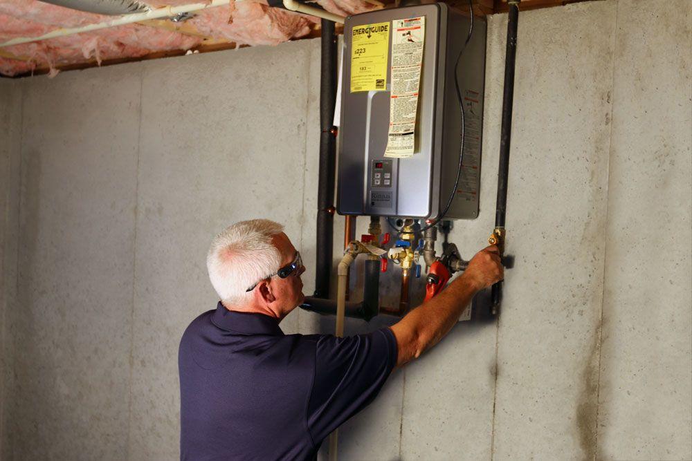 technician performing maintenance