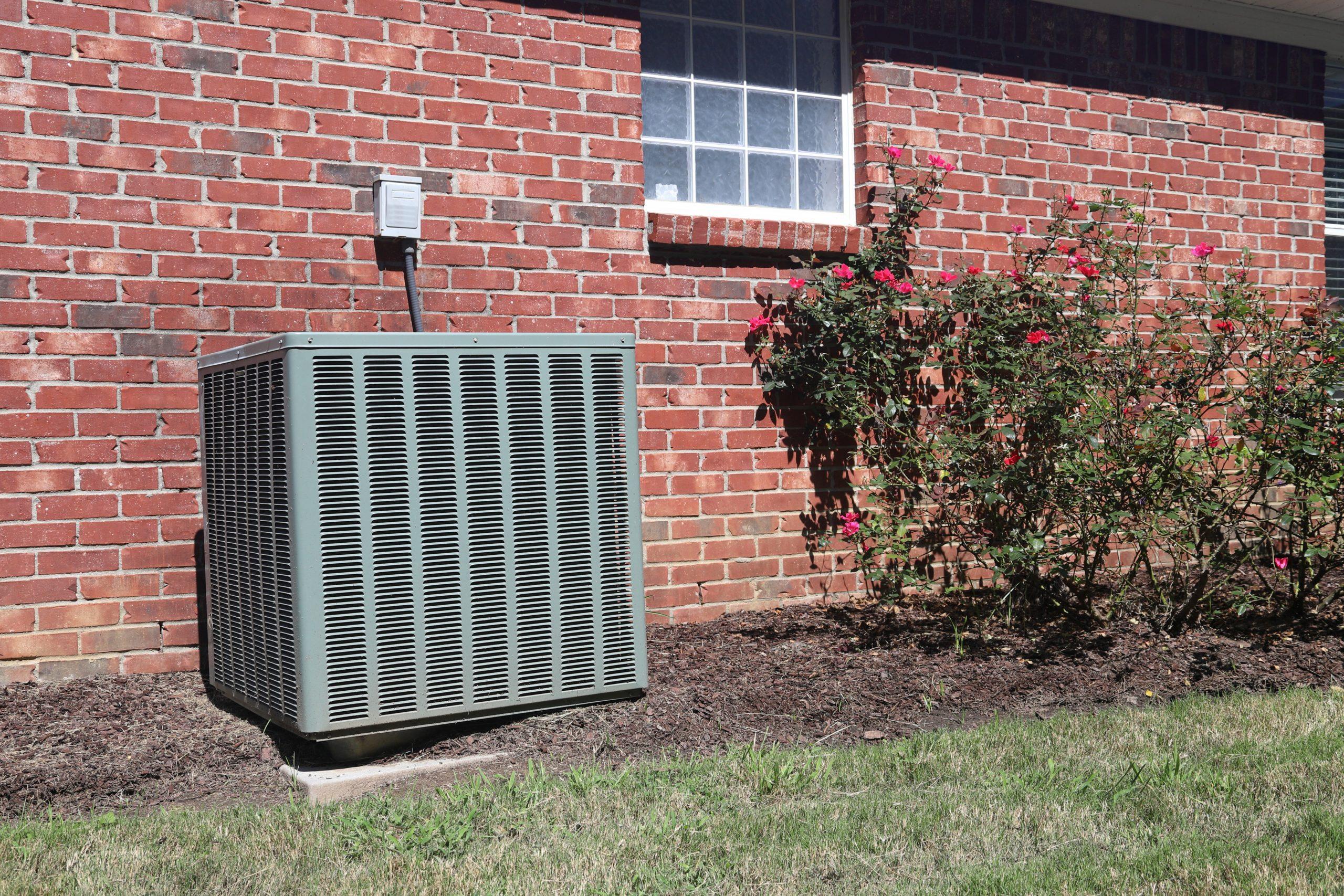 AC unit outside a house