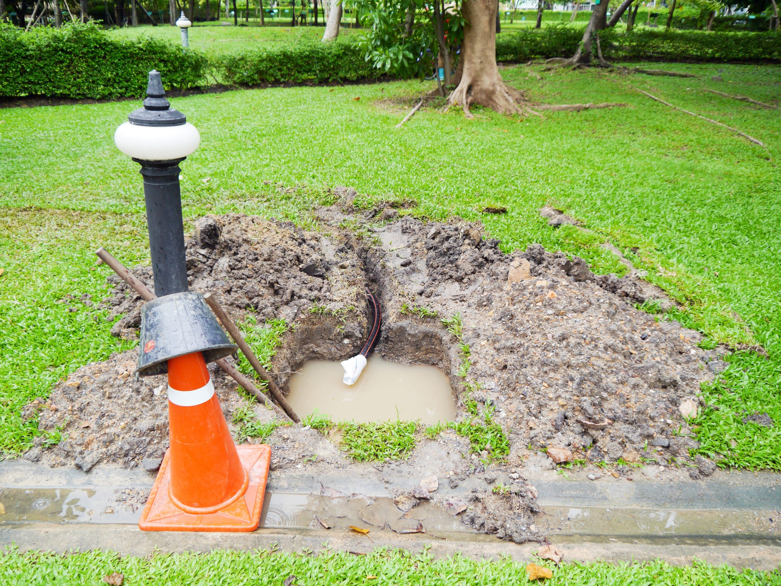 sewer line overflow