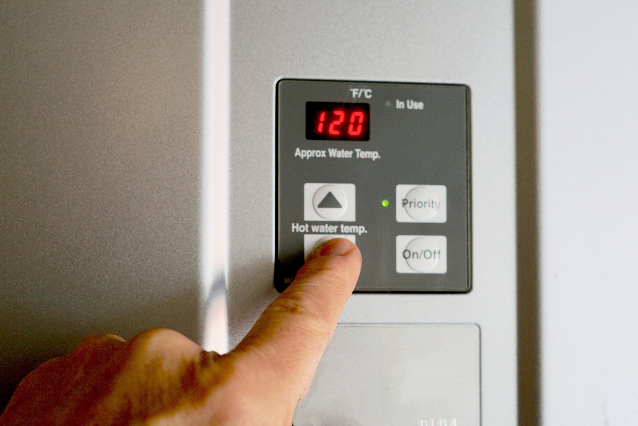 turning down your water heater temperature